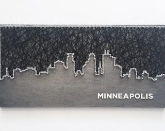Minneapolis Skyline String Art - Minneapolis Art - Minnesota Art