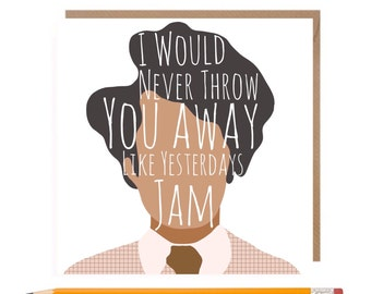 Funny IT Crowd Card • it Crowd Card • IT Crowd Moss Card • Maurice Moss Card • British Comedy Card • Richard Ayoade • funny valentines