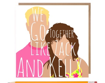 Funny Greetings Card • Funny Valentines • Saved by the bell • Zack & Kelly • Funny 90s Birthday Card • Funny Love Card