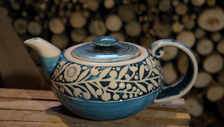 Family Gift Large Pottery Teapot Unique Teapot By Ceramastudio