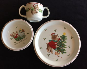 Mikasa Child's Christmas Dish Set