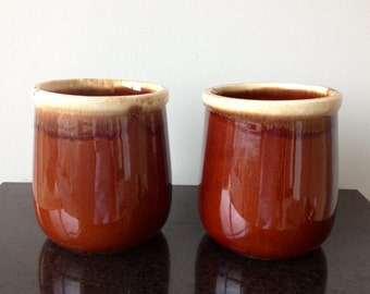 McCoy Brown Drip Crock or Canister - 2 Available!!