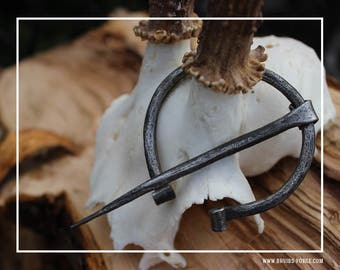 Hand forged by blacksmiths vikings fibula, brooches for cloak and LARP, history patterns