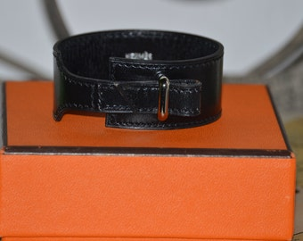 HERMES leather bracelet authentic