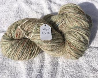 Sparkling hand spun Shetland yarn 160 yards