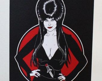 Elvira Greeting Card