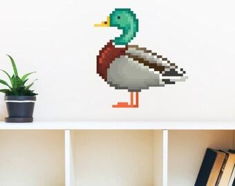 8 Bit Duck Wall Decal
