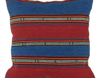 Cushion Kilim Vintage red and blue, room craft B071