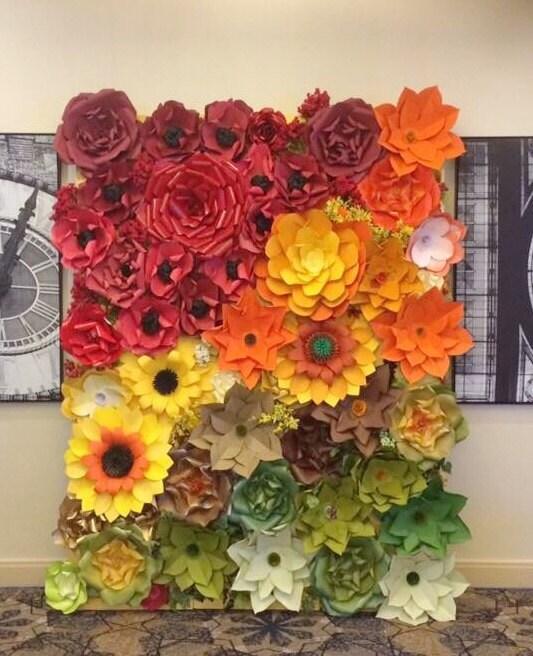 Paper Flower Backdrop / Giant Paper Flowers Wall / Paper Flower ...