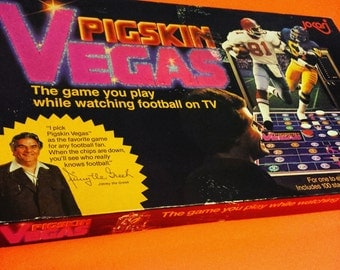 Pigskin Vegas football betting Tv board game boardgame games toy toys NFL sport sports 70s 80s '80s 1980s eighties 90s '90s