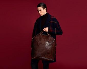 VALTARI Traveler Leather Bag Croco