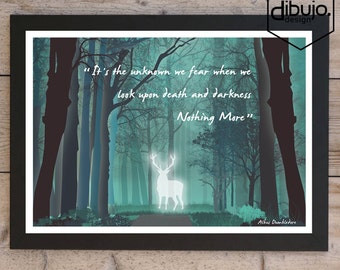 Harry Potter Forbidden Forest Print