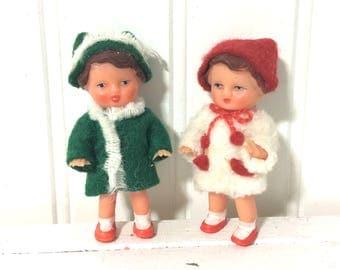Adorable Vintage East Germany Ari Tiny Dolls