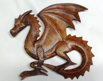 Dragon wood carving (#drgfltlb13)