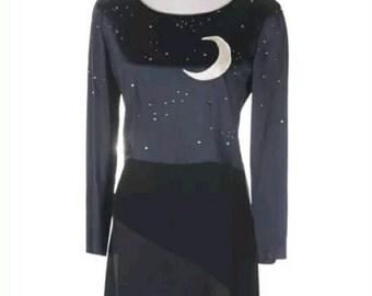 Vintage Moschino dress, Claire de lune,