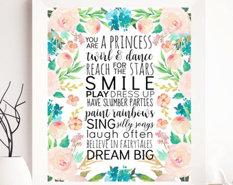 Girl nursery; Girl Printable, Girl Print, Nursery Girl wall decor, nursery girl wall art, nursery girl gift, girl decor, cute print, girls