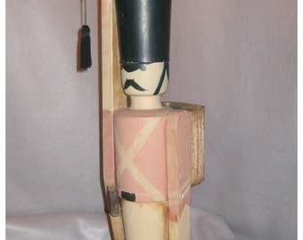 A1063 Vintage 1940's  Toy Soldier Floor Lamp with Original Patina