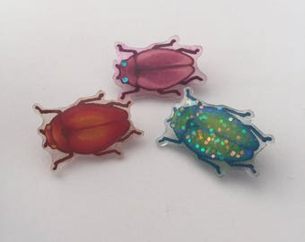 Handmade Beetle Badge