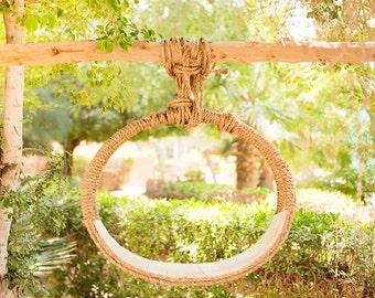 Newborn Brown Basket Outdoor Digital Backdrop/Prop