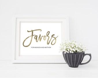 Wedding Sign Template   Favors Sign   Wedding Sign   Printable Wedding Sign   5x7 & 8x10   EDN 5445