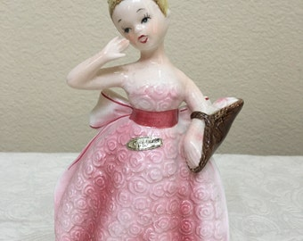 Enesco Japan Floral Girl figurine
