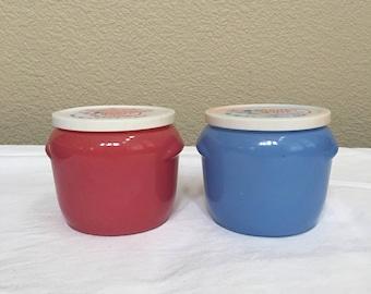 Walker's Honey Whip Jars with original lids
