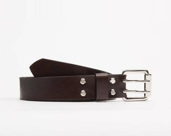 Handcrafted leather belt // Georgia