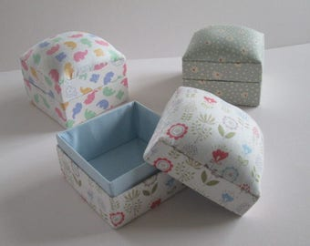 Handmade fabric gift or trinket box