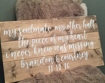 Personalized Wedding Sign   Anniversay Gift   Wedding Gift   Custom Wedding Sign   Wall Art