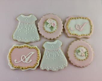 Baptism Cookies, Christening, Baptism, Baby Girl, Baby Shower Cookies