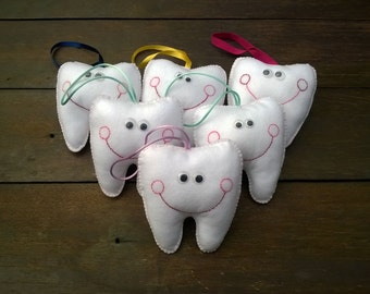 Tooth fairy pillow - tooth fairy, tooth shaped pillow, child gift, tooth lost