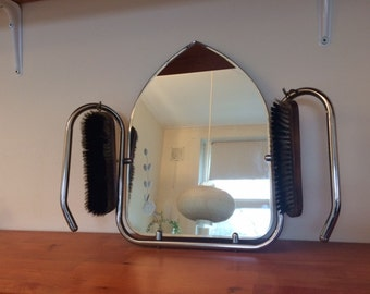 Art deco mirror / vintage / clothing brush
