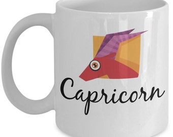 Zodiac Mug - Capicorn Funky Symbol - 11 oz Gift Mug