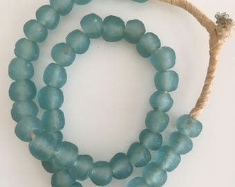 Dark Small Glass Teal Beads