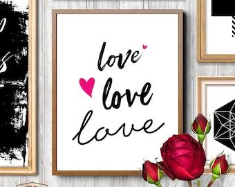 Love, bridal shower, i love you, heart, wedding sign, valentines day, valentine, lovers, pink, black
