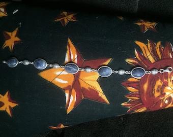 Sodalite and Sterling silver bracelet
