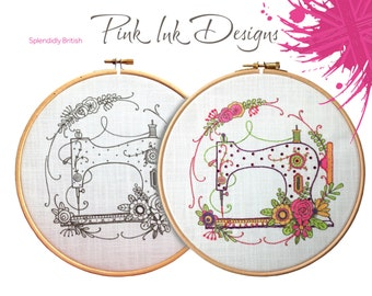 Sewing Machine embroidery pattern. Sewing gift.