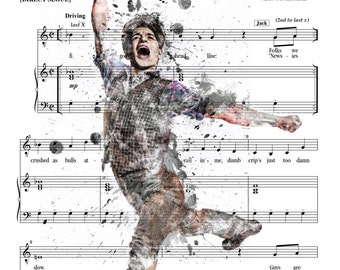 Newsies Sheet Music Ink Portrait