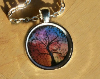 Colorful Tree of Life Pendant Necklace - Spiritual Necklace - Rainbow Tree Pendant - Tree of Life Jewelry - Metaphysical Necklace
