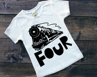 Train Birthday Shirt - Train Shirt - Birthday Shirt - Boy Birthday Shirt
