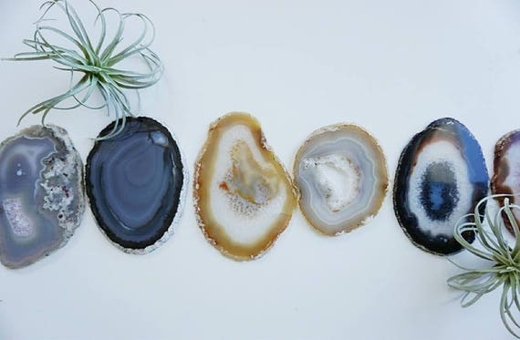Summer 4th of July Party Agate Coasters - NATURAL - Sets of 2/4/6+ - Housewarming gift - Bridal gift - Home - Home Decor - Summer