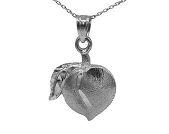14k Black Gold Peach Necklace