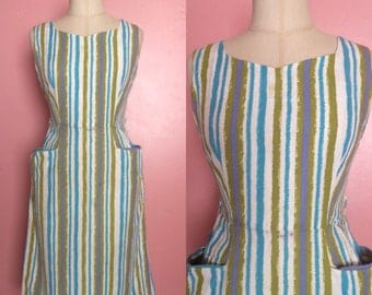 1960s Dress • Summer striped shift dress