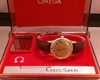Vintage Omega Constellation Presentation Watch Box. *RARE*.Watch Box Only. Free Insured Shipping!