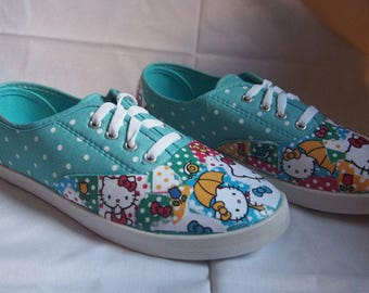 Hello Kitty polka dot, Size 8