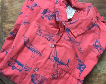 1980's Aircraft Short Sleeve Shirt
