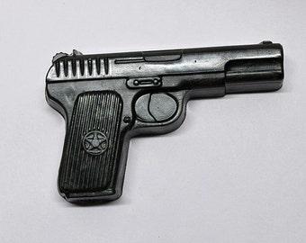 Gun Soap Gift for him Valentines Day gift for him Military gift Pistol Gun soap Party favors Police gun Man soap Stocking stuffer for man