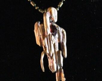 Creative Copper Pendant with Czech Garnet (022017-020)