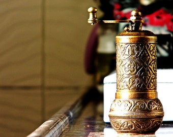 Coffee grinders /Vintage Hand mill/ Turkish coffee grinder cylinder-Salt Pepper grinder