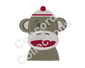 Sock Monkey Machine Embroidery Design